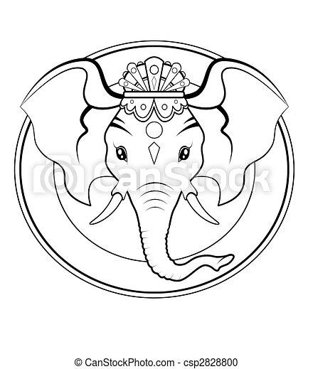 Ganesh logo - BW - csp2828800