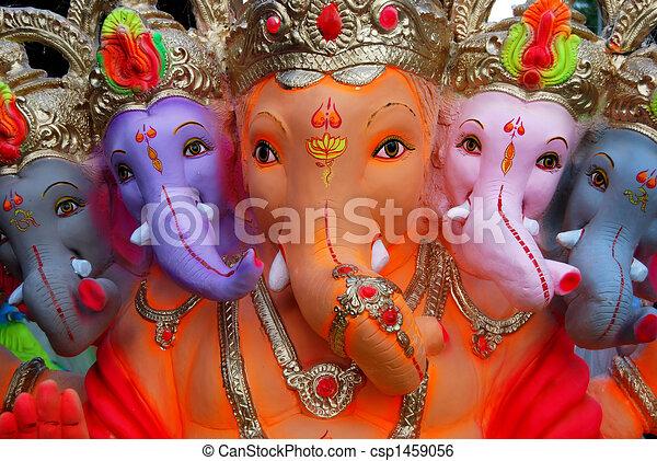 Ganesh the Elephant God of India - csp1459056