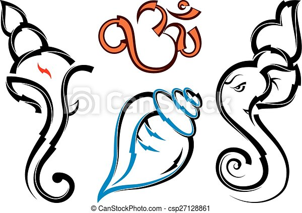 ganesha collection set vector art clip art vector search drawings rh canstockphoto com vector clipart collection free download vector clipart collections
