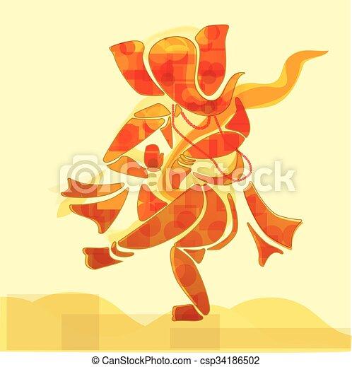 Ganesha dancing. - csp34186502