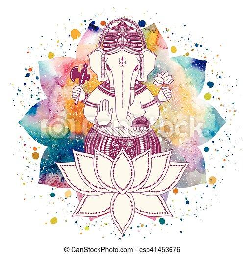 Ganesha god vector - csp41453676