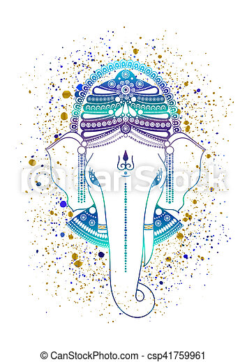 Ganesha indian god - csp41759961