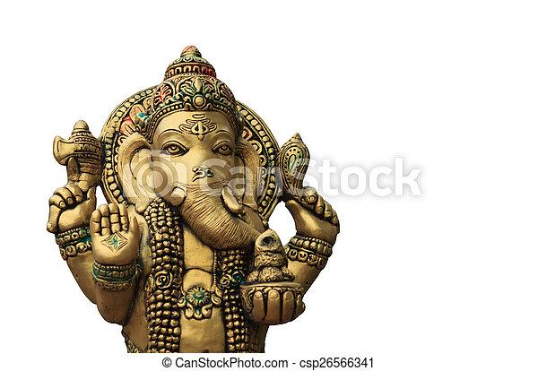 Ganesha on a white background - csp26566341
