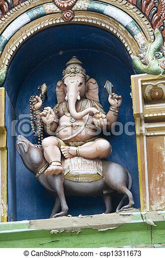 Ganesha Sitting on Vehicle - csp13311673