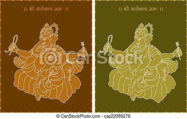 Ganesha The Lord Of Wisdom - csp22089276