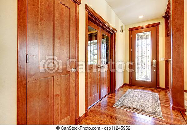 Gang eingang kirschen wood. luxus haus. gang eingang anzeige
