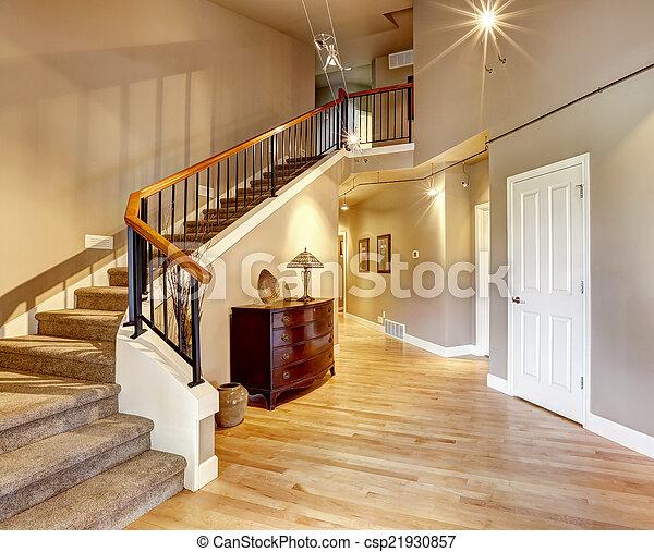 Gang Luxus Treppenaufgang Haus Gang Decke Treppenaufgang Haus