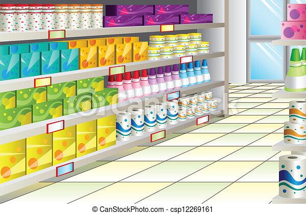 gangpad, grocery slaan op - csp12269161