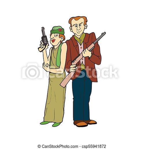 Gangster Cartoon Character Vector Illustration Design