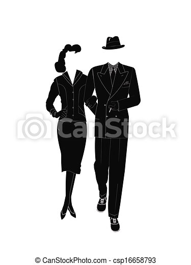 gangster couple  - csp16658793