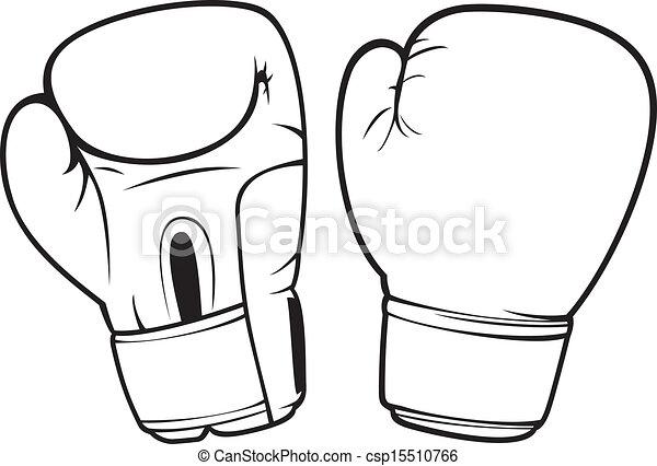 Gants boxe clip art vectoriel rechercher des dessins et - Gant de boxe dessin ...