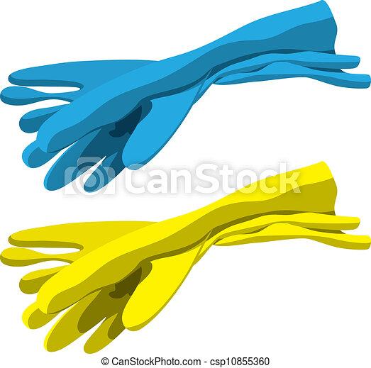 gants caoutchouc - csp10855360