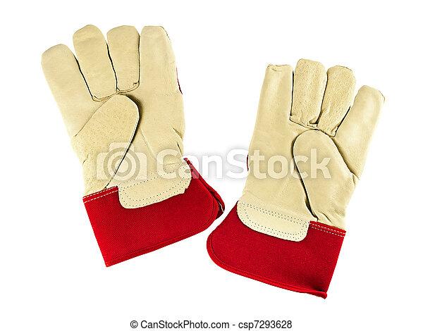 gants travail - csp7293628