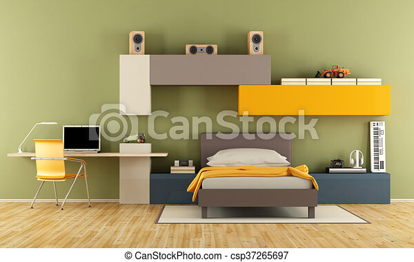 Garçon Adolescent Moderne Chambre à Coucher