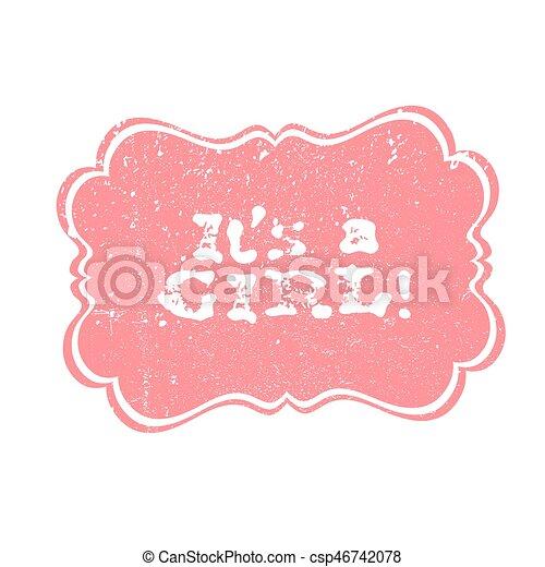 Garçon Cest Salutation Labels Douche Vecteur Conception Lettrage Bébé Fille Partie Lettering Element