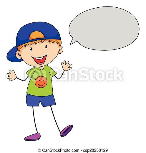 garçon, conversation - csp28258129