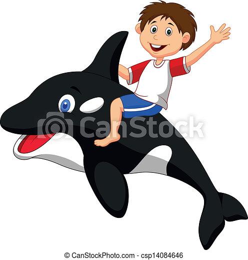 Gar on dessin anim quitation orque gar on illustration vecteur quitation dessin anim - Dessin d orque ...