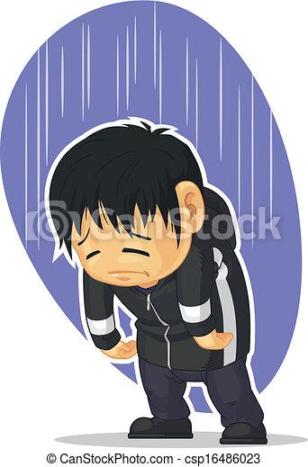 Gar on dessin anim triste disponible concept colorer image sad gai bon conception - Dessins triste ...