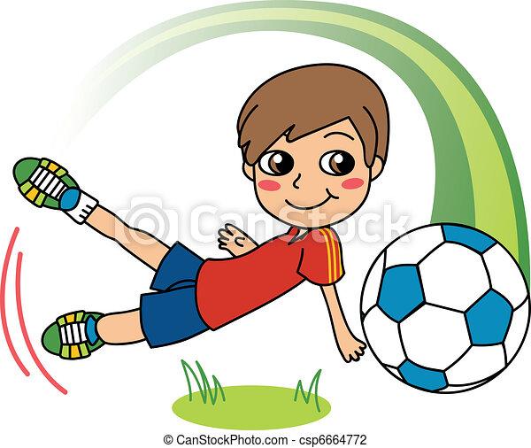 garçon, football - csp6664772