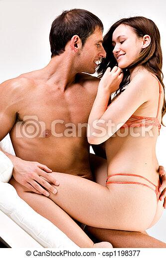 garçon, girl, jeune, elle, sexy - csp1198377
