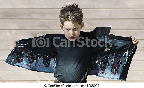 garçon, sien, chemise, ouverture - csp1268207