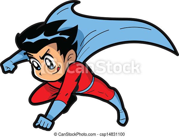 garçon, superhero, anime, manga - csp14831100