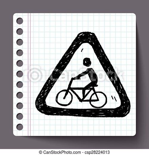 Señas de bicicleta - csp28224013