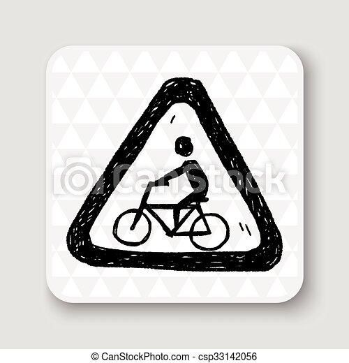 Señas de bicicleta - csp33142056