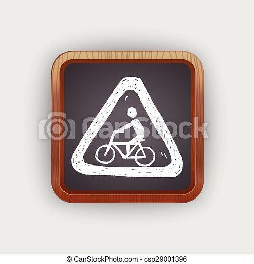 Señas de bicicleta - csp29001396