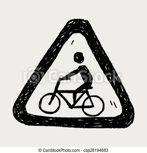 Señas de bicicleta - csp28194683