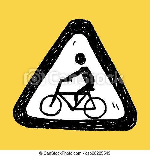 Señas de bicicleta - csp28225543
