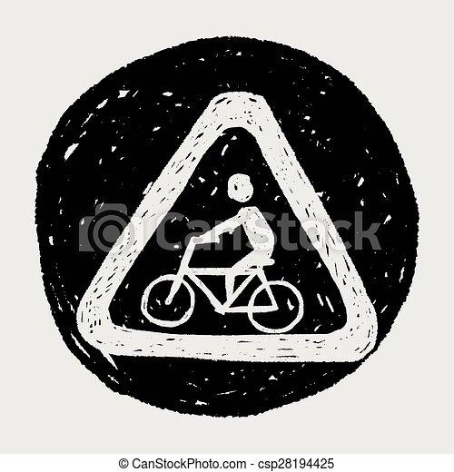 Señas de bicicleta - csp28194425