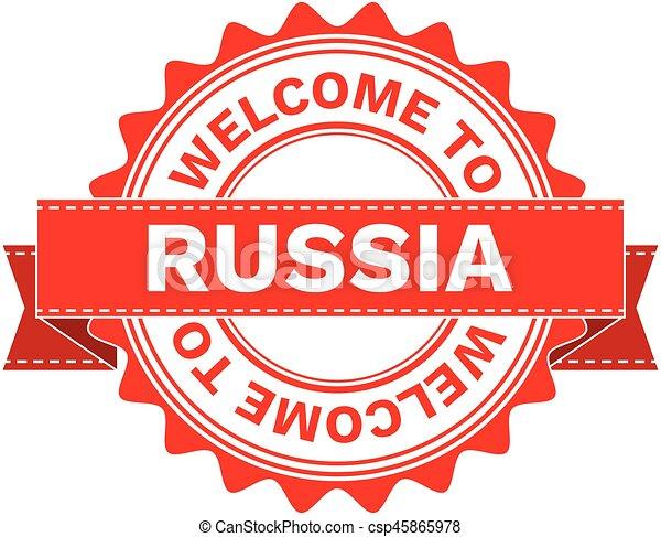 Ilustración de vectores de bienvenida al país Rusia - csp45865978