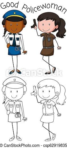 Buena mujer policía - csp62919835