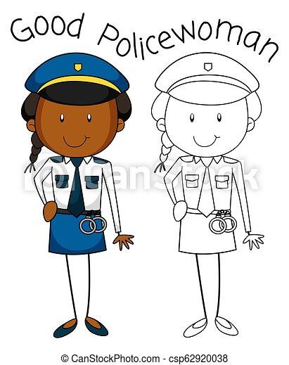 Buena mujer policía - csp62920038