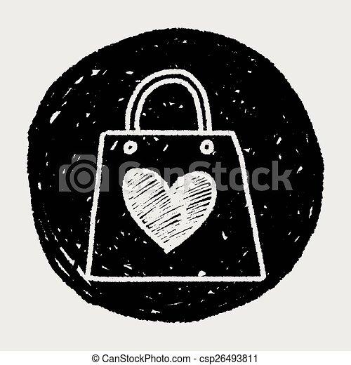A Doodle le encantan las compras - csp26493811