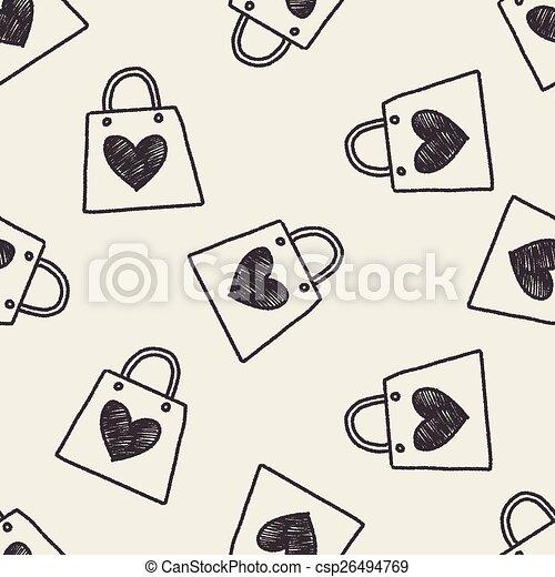 A Doodle le encantan las compras - csp26494769