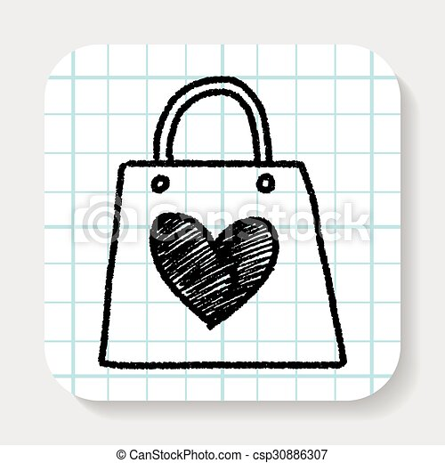 A Doodle le encantan las compras - csp30886307