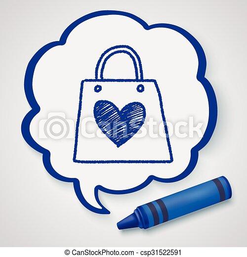 A Doodle le encantan las compras - csp31522591