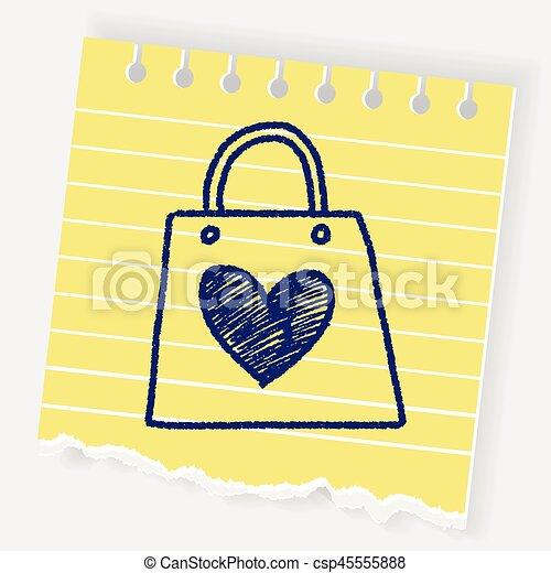 A Doodle le encantan las compras - csp45555888