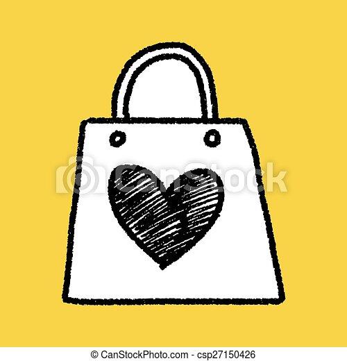 A Doodle le encantan las compras - csp27150426