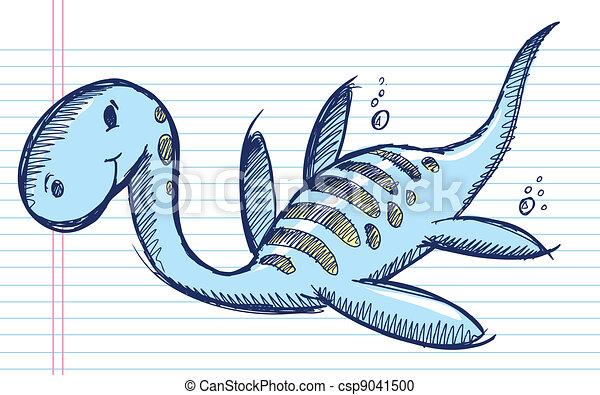 Dibuja Un Dinosaurio Marino Sketch Doodle Mar Vector De Dinosaurios Marinos Canstock Savesave dinosaurios del mar for later. dibuja un dinosaurio marino sketch