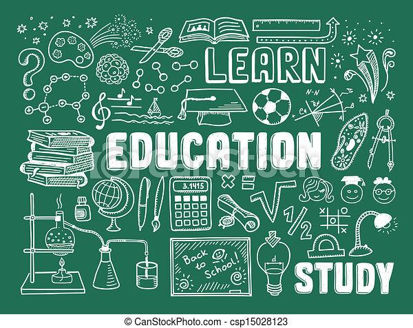 garabato, educación, elementos - csp15028123