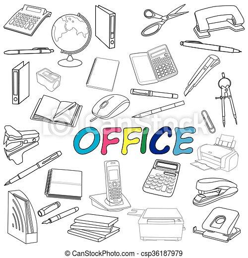 Garabato elementos oficina empate elementos oficina for Elementos para oficina