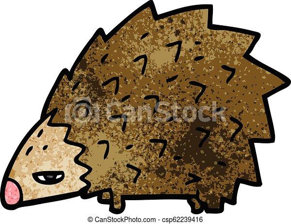 Un puercoespín furioso - csp62239416