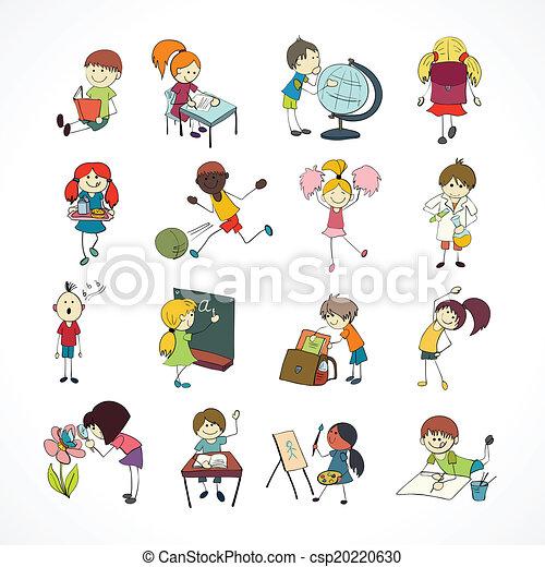 garabato, escolares, bosquejo - csp20220630