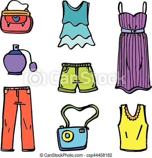 9e4e6303b garabato, estilo, vario, niña, ropa