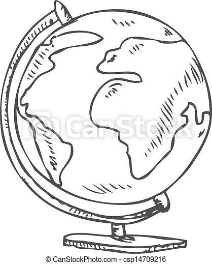 Globe doodle - csp14709216