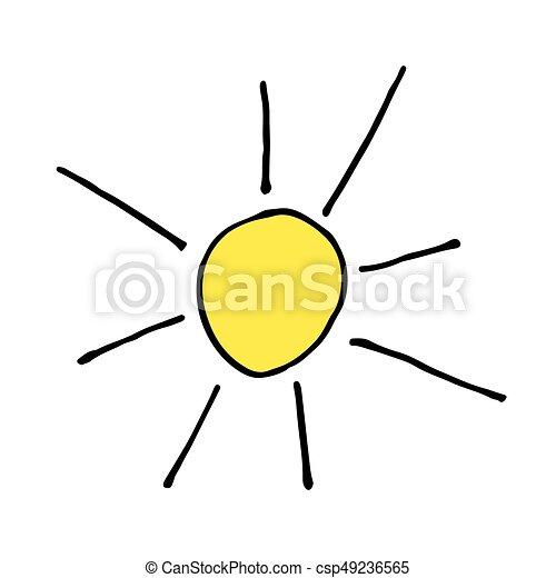 garabato ilustración mano vector sol dibujo icono