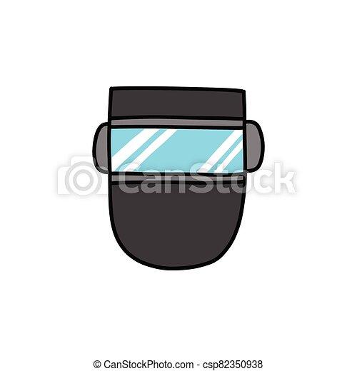 garabato, máscara, soldadura, icono, ilustración, color, vector - csp82350938